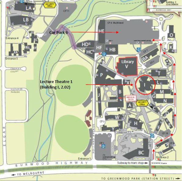 Deakin University, Burwood Campus Map