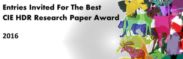 Best Paper Award CIE-HDR 2016 Conference